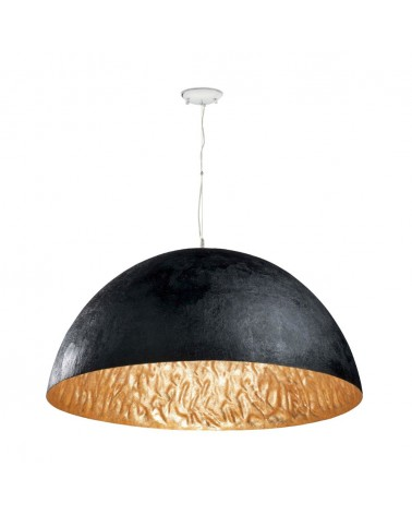 MAGMA-P Black and gold pendant lamp