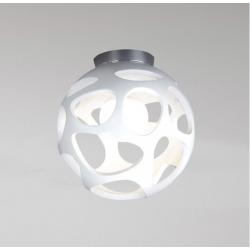 M_5143 Mantra 5143 Organica Ceiling 1 Light E27, Gloss White/Polished Chrome