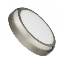 SP-08.22.012 Silver Round Design 12W LED Surface Panel