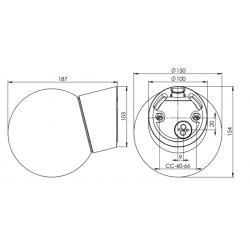 IE_6044-510-10 Ifo Electric Classic Globe clear glass Ø150